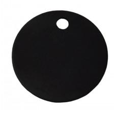 25mm Black Anodised Aluminium Blank Disc Tag