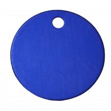 25mm Blue Anodised Aluminium Blank Disc Tag