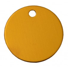 25mm Golden Orange Anodised Aluminium Blank Disc Tag