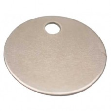 Nickel Plated Brass 25mm Disc Tags