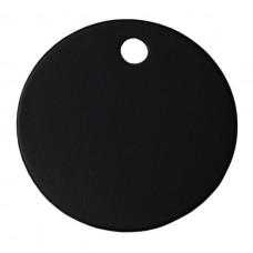 30mm Black Anodised Aluminium Blank Disc Tag