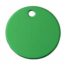 30mm Green Anodised Aluminium Blank Disc Tag