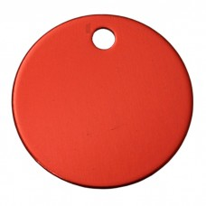 30mm Red Anodised Aluminium Blank Disc Tag