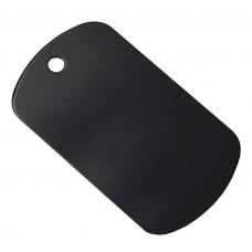 50mm x 29mm Black Anodised Aluminium Blank Military / Oval Shape Tag