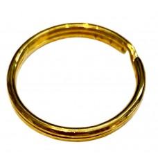 24mm Brass Plated Split Rings