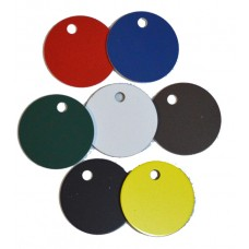 Engravable 30mm blank discs with hole
