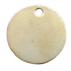 Brass 25mm Disc Tags