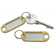 Cream Plastic Key Tag