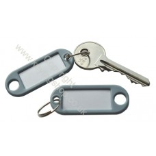 Grey Plastic Key Tag