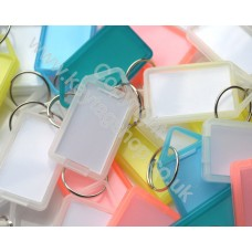 Assorted Hinged Plastic Key Tag, Pack of 50