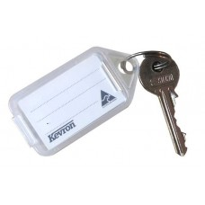 Extra Large Clear Kevron Click Key Tag