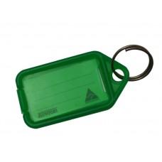 Green Kevron Click Key Tag