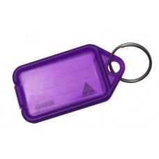 Lilac Kevron Click Key Tag