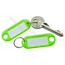 Neon Green Plastic Key Tag