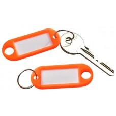 Neon Orange Plastic Key Tag