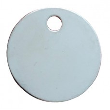 Nickel Plated Brass 19mm Disc Tags