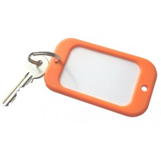 Orange Large Hotel Key Fobs