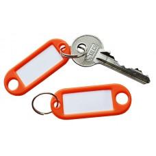 Orange Plastic Key Tag