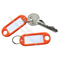 Orange Plastic Key Tag