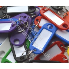Plastic Key Tag Assorted Colours, Pack of 100