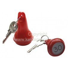 Red Pear Shaped Hotel Key Fob