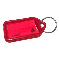 Red Kevron Click Key Tag