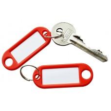 Red Plastic Key Tag