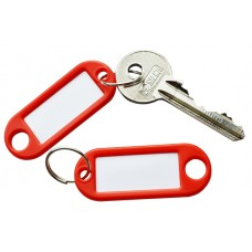 Red Plastic Key Tag