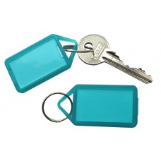 Green Hinged Plastic Key Tag