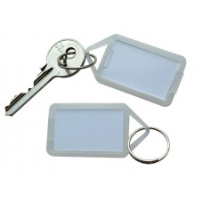 Transparent Hinged Plastic Key Tag