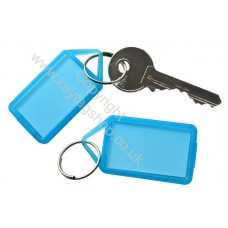 Blue Hinged Plastic Key Tag