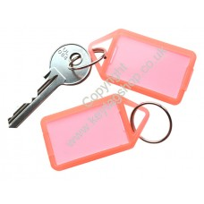 Orange Hinged Plastic Key Tag