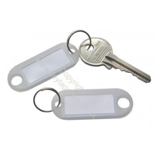 Transparent Plastic Key Tag (100 pack) - **SPECIAL OFFER**