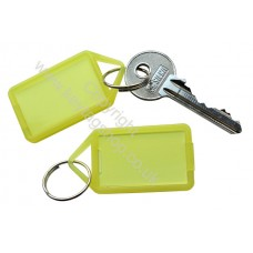 Yellow Hinged Plastic Key Tag
