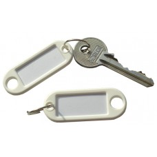 White Plastic Key Tag