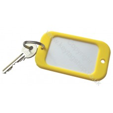 Yellow Large Hotel Key Fobs