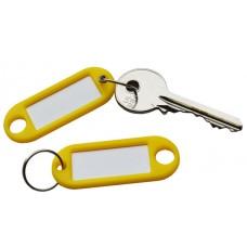 Yellow Plastic Key Tag